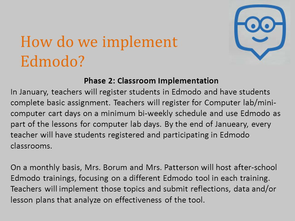 Phase 2: Classroom Implementation