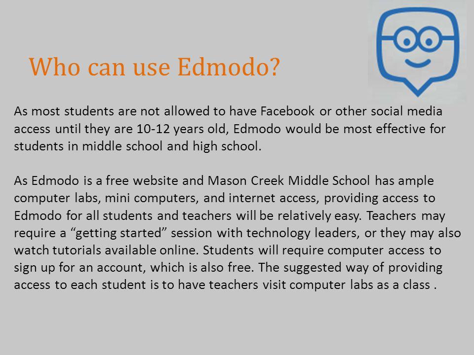 Who can use Edmodo