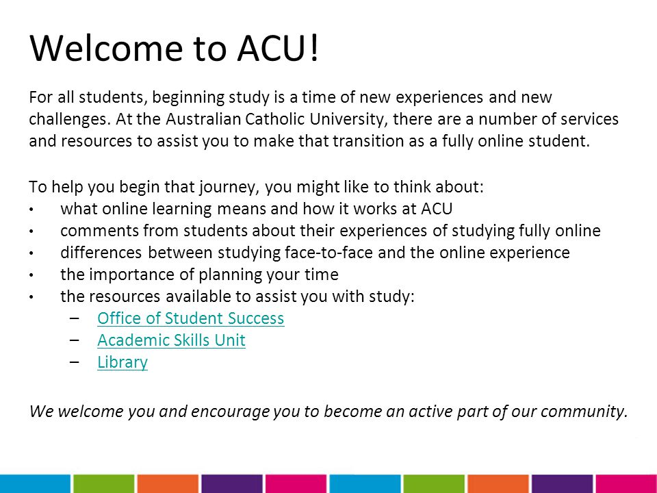 Welcome to ACU!