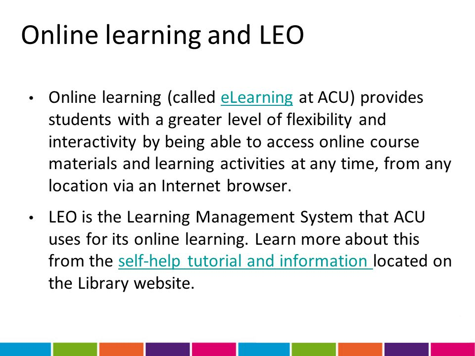 Online learning and LEO
