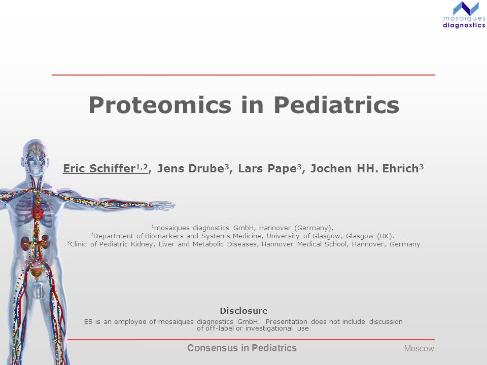 Proteomics in Pediatrics