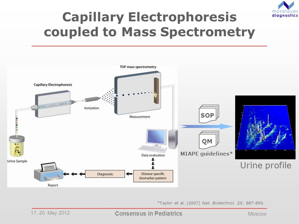 Capillary Electrophoresis coupled to Mass Spectrometry