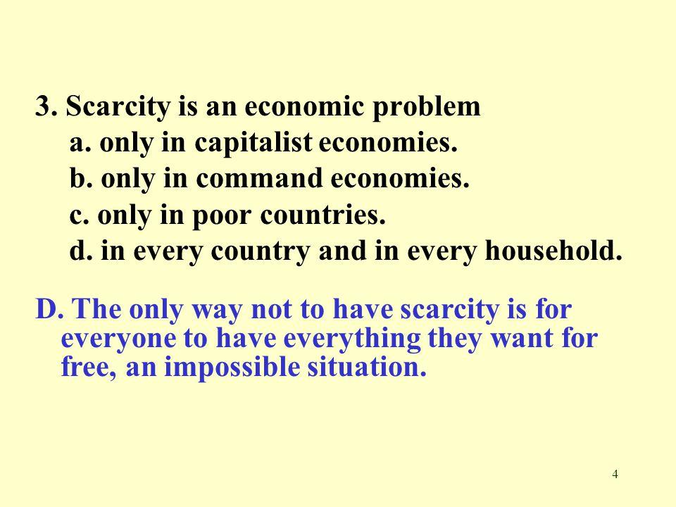 3. Scarcity is an economic problem