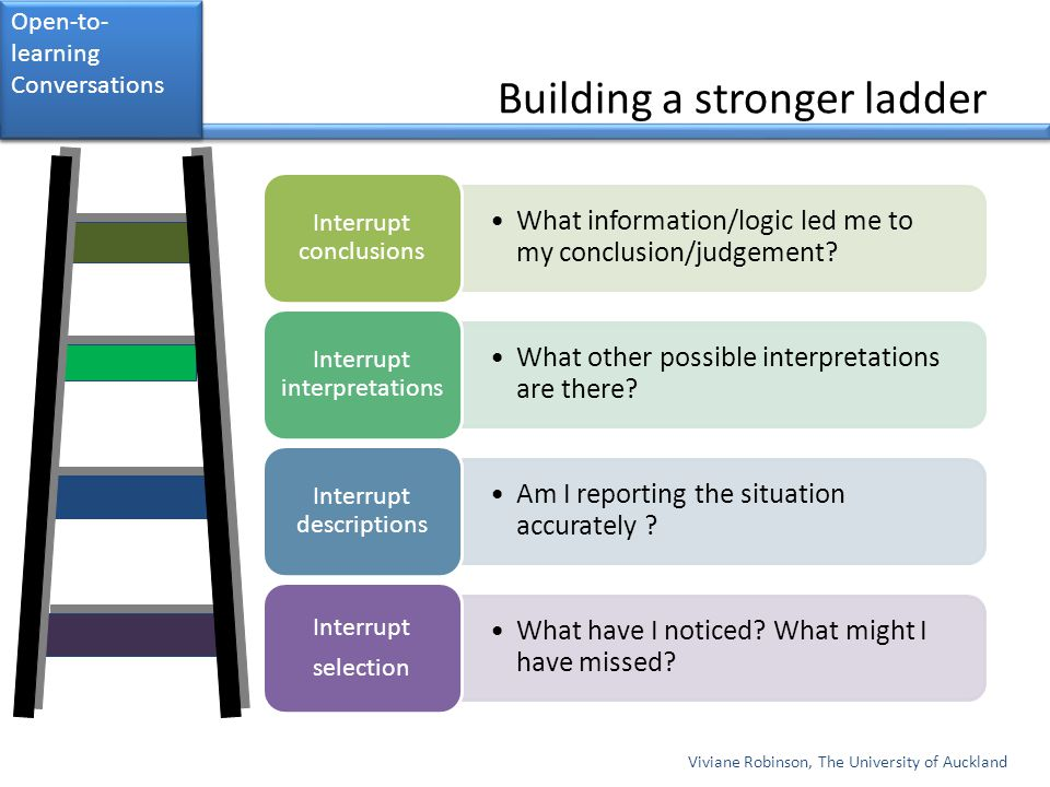 Building a stronger ladder