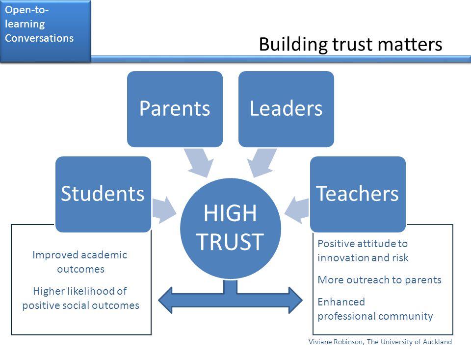 Building trust matters