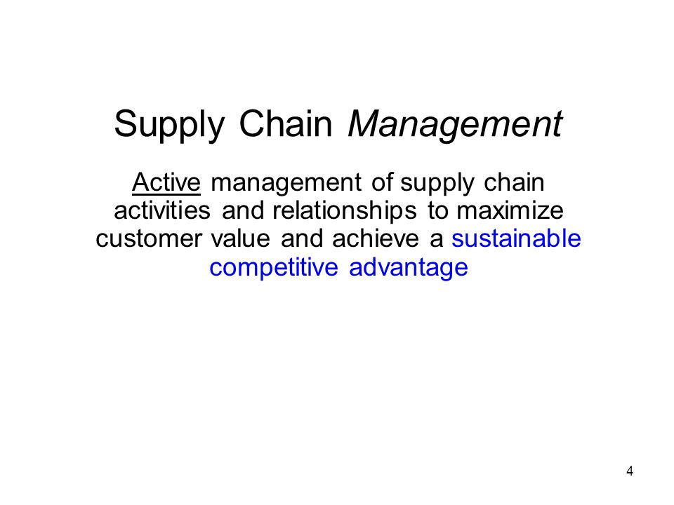 supply chain management in operations management pdf