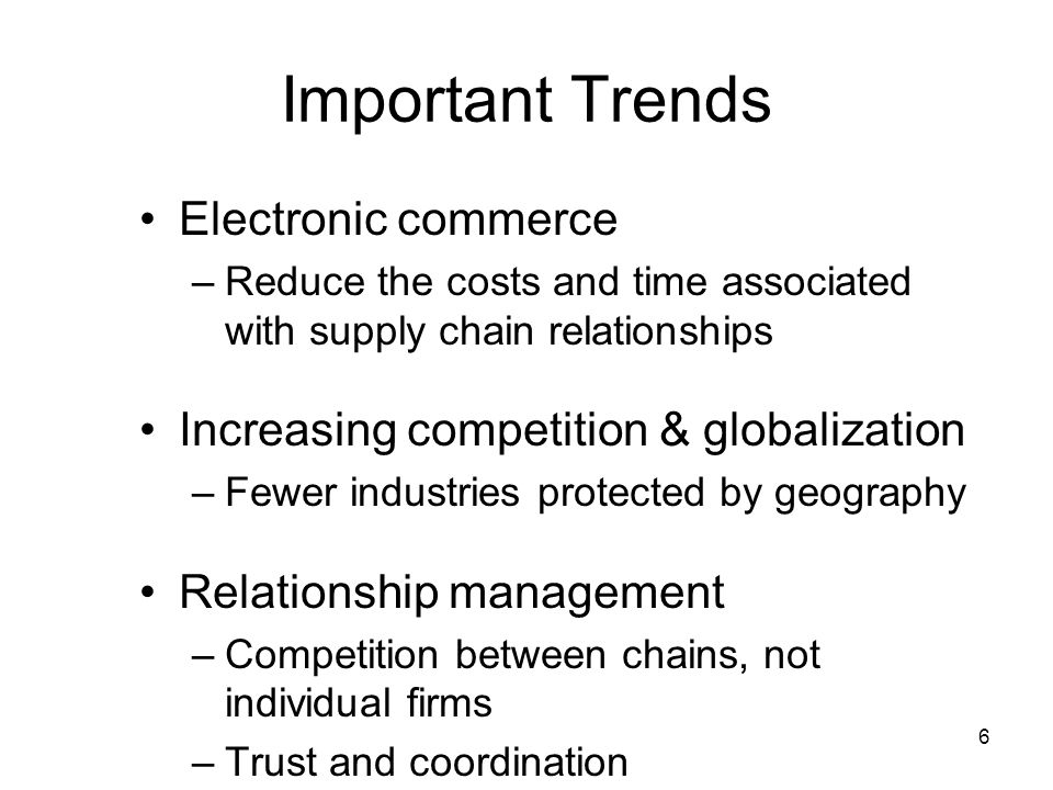 Important Trends Electronic commerce