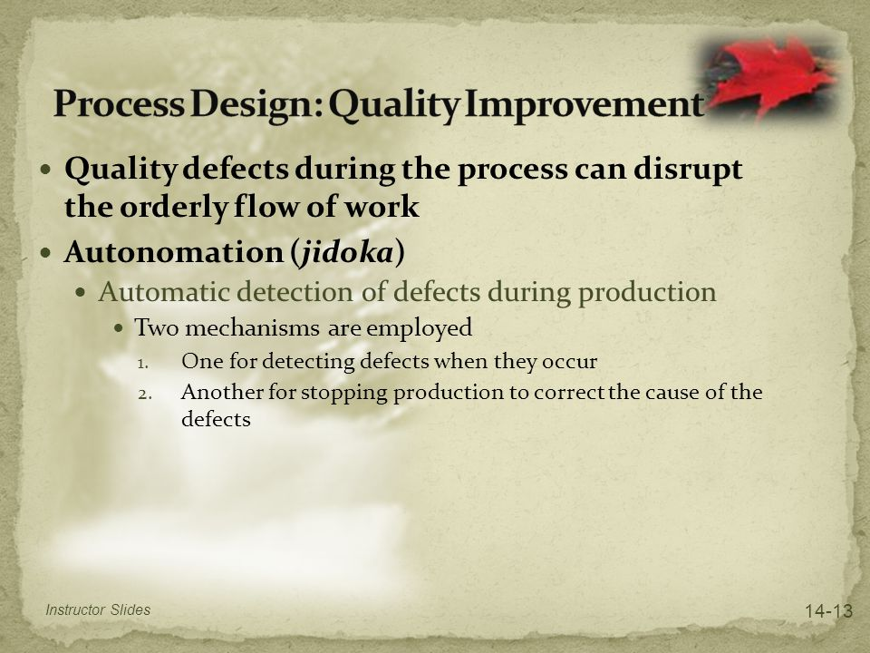 Process Design: Quality Improvement