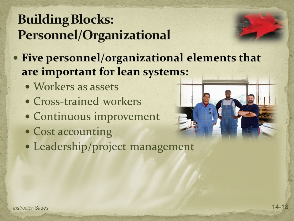 Building Blocks: Personnel/Organizational