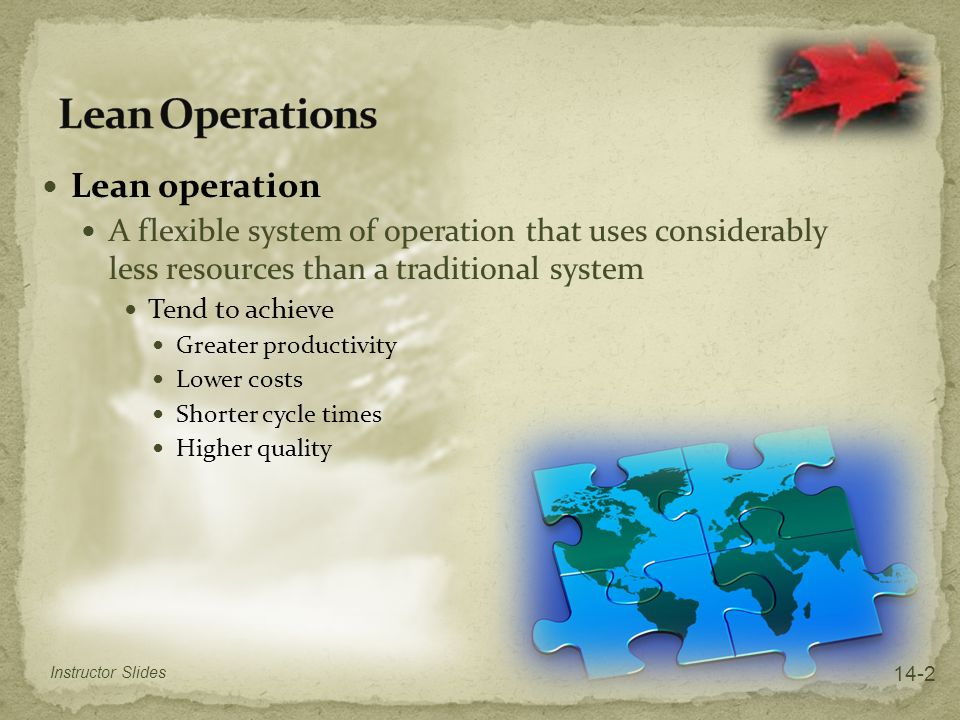 Lean Operations Lean operation