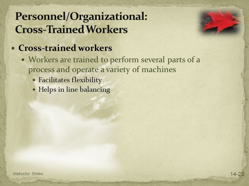 Personnel/Organizational: Cross-Trained Workers