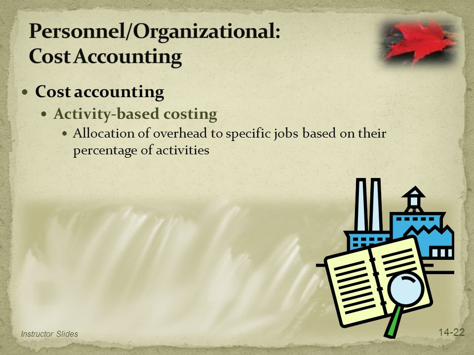 Personnel/Organizational: Cost Accounting