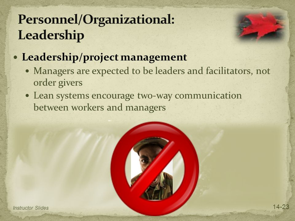 Personnel/Organizational: Leadership