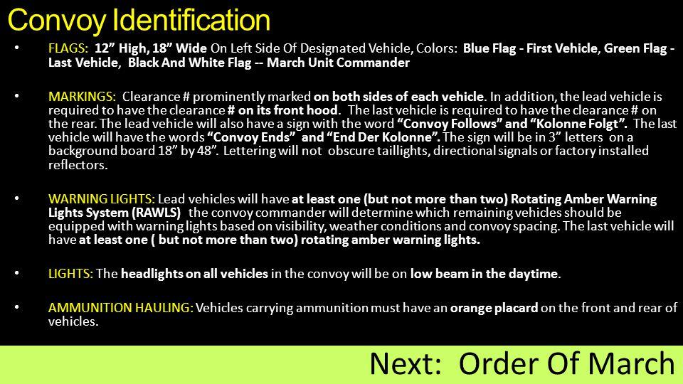 Convoy Identification