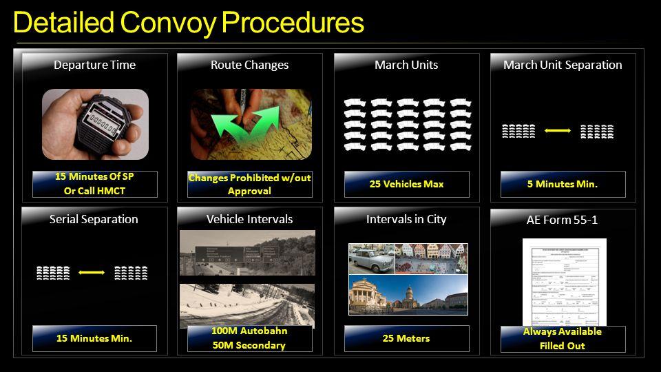 Detailed Convoy Procedures