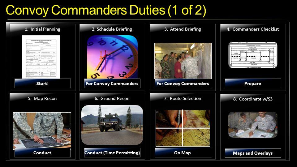 Convoy Commanders Duties (1 of 2)