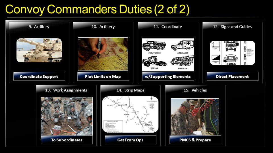 Convoy Commanders Duties (2 of 2)