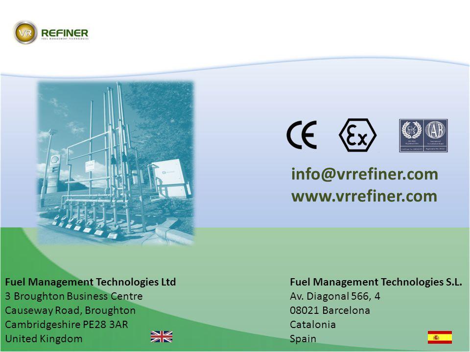 info@vrrefiner.com www.vrrefiner.com