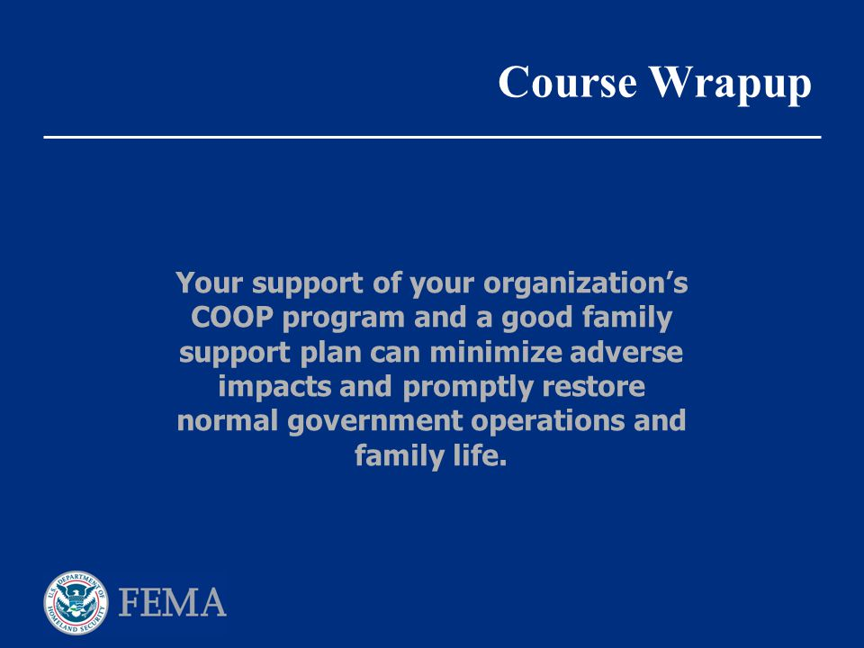 Course Wrapup