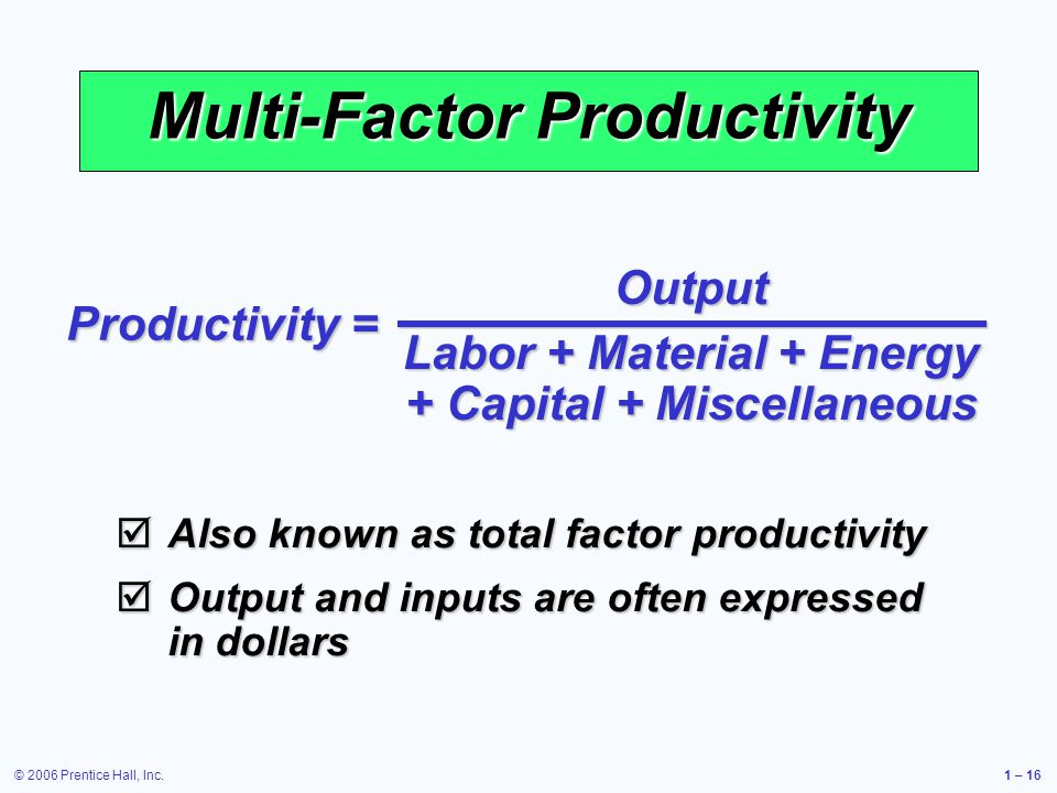 Multi-Factor Productivity