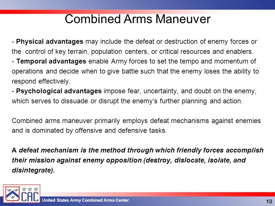 Combined Arms Maneuver