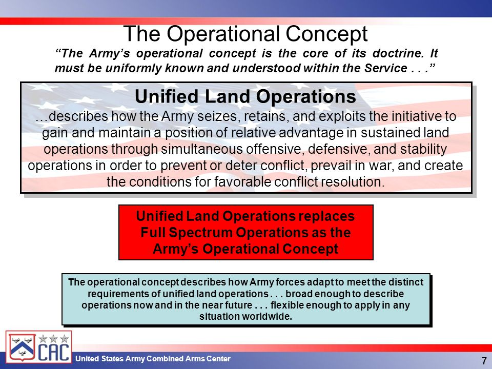 The Operational Concept