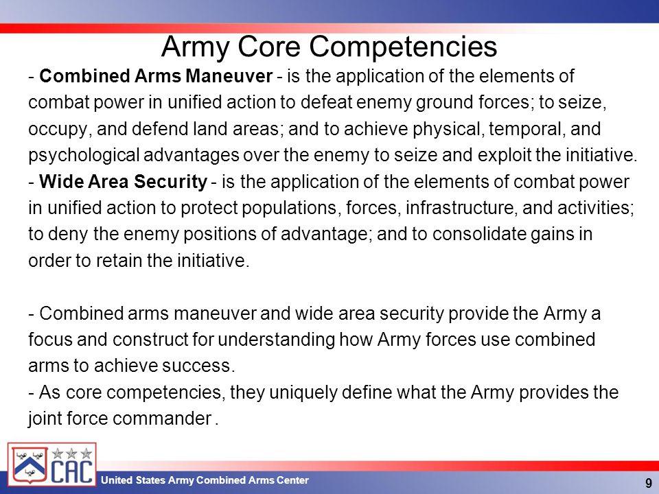 Army Core Competencies