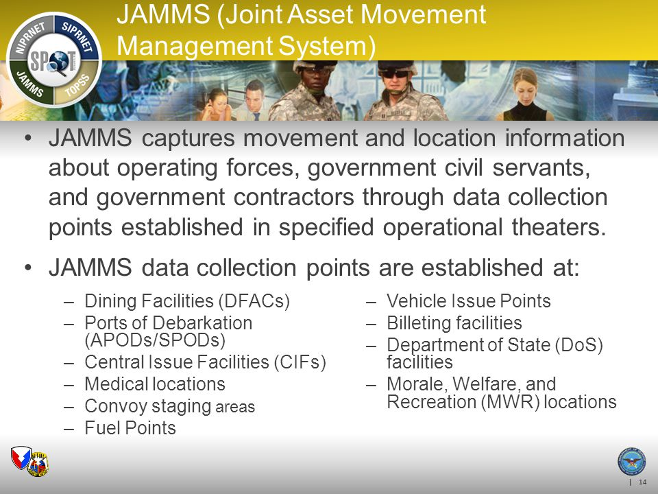 JAMMS (Joint Asset Movement Management System)