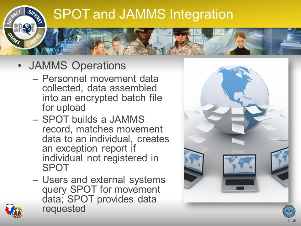 SPOT and JAMMS Integration