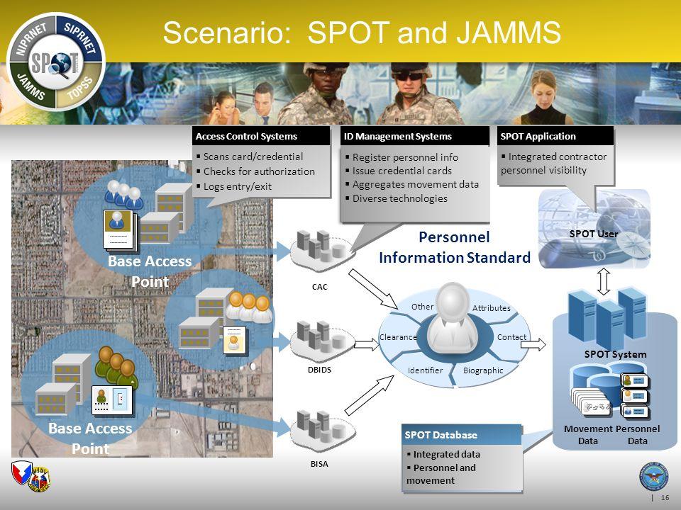 Scenario: SPOT and JAMMS