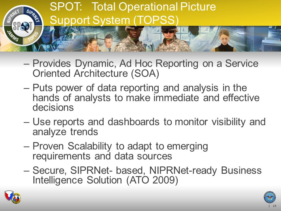 SPOT: Total Operational Picture Support System (TOPSS)