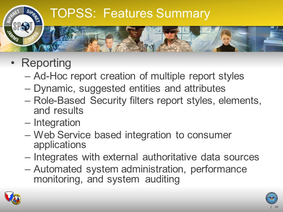 TOPSS: Features Summary