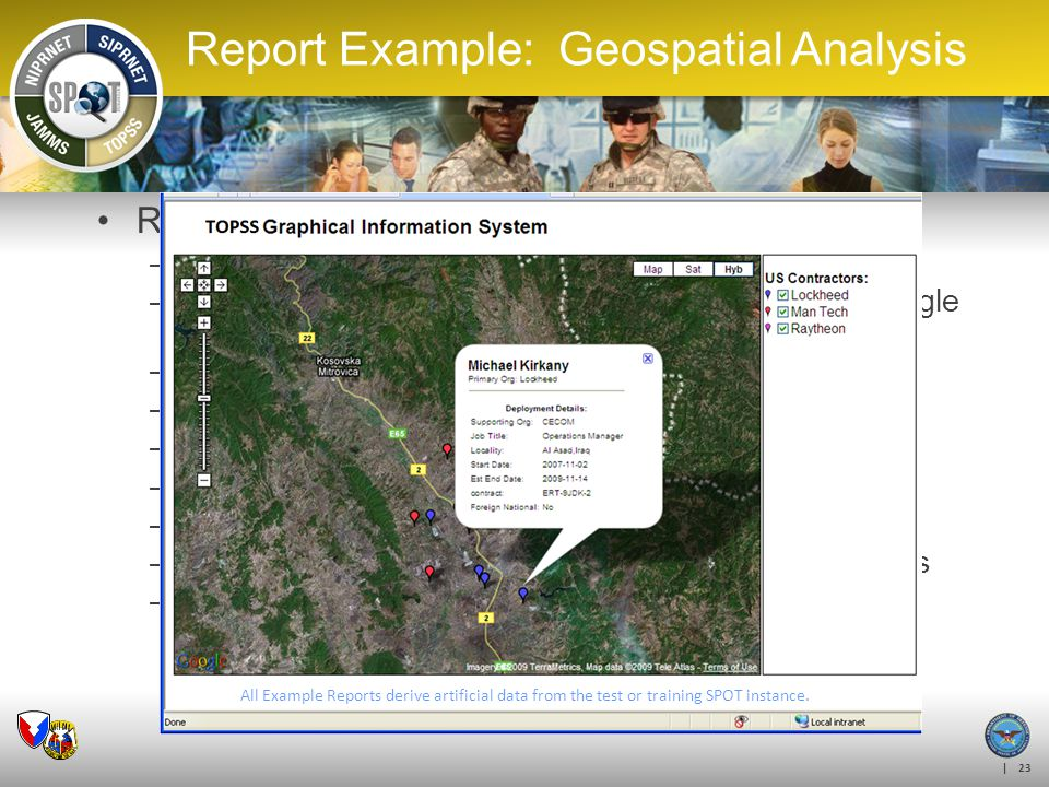 Report Example: Geospatial Analysis