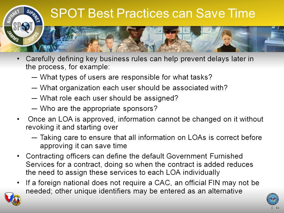 SPOT Best Practices can Save Time