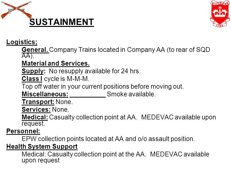 SUSTAINMENT Logistics;
