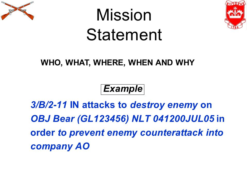 Mission Statement Example
