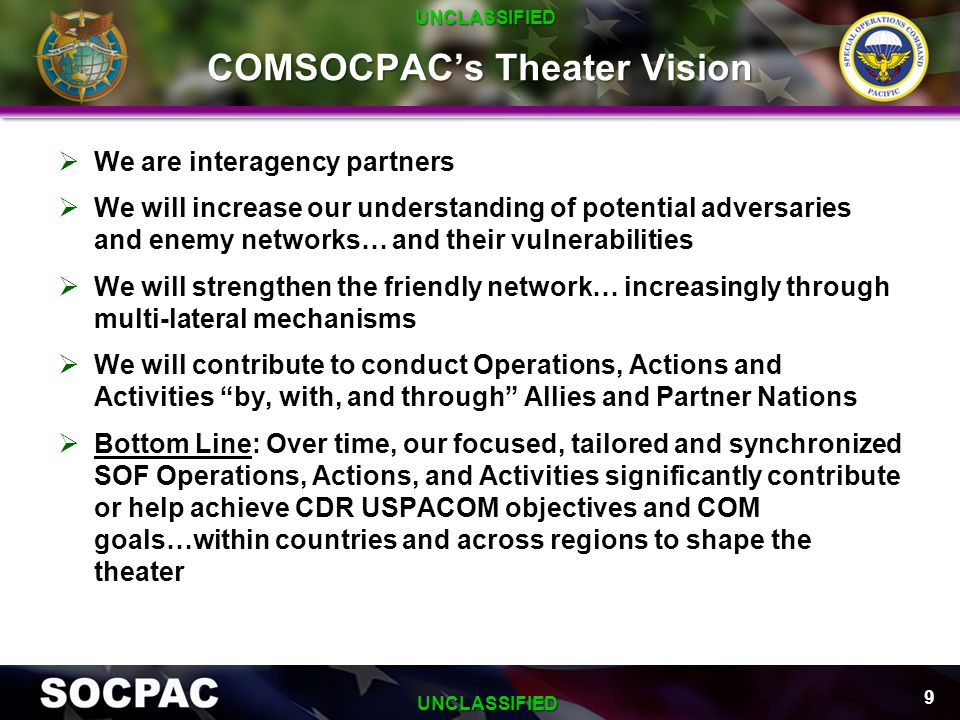 COMSOCPAC's Theater Vision