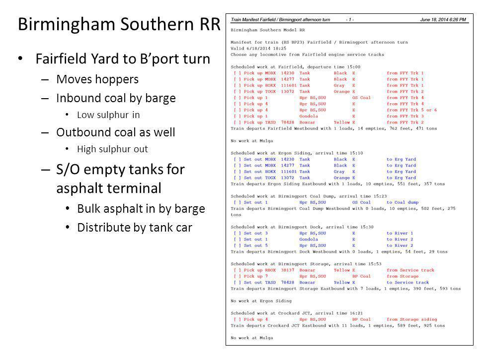 Birmingham Southern RR
