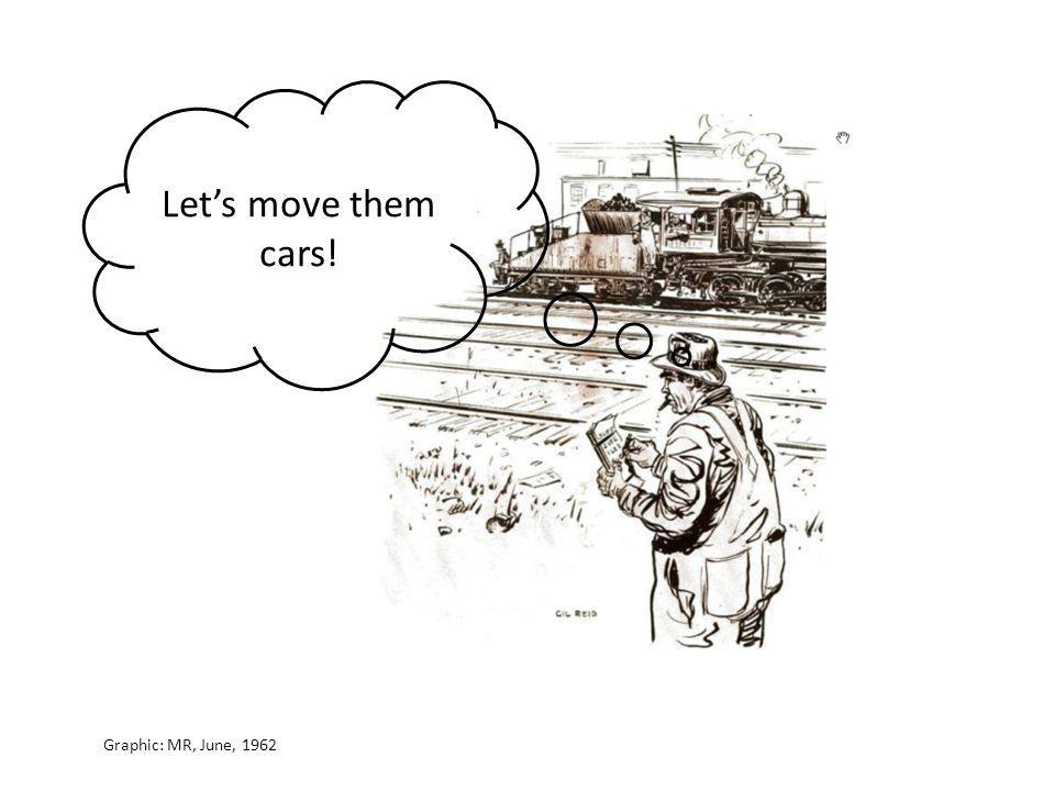 Let's move them cars! Graphic: MR, June, 1962