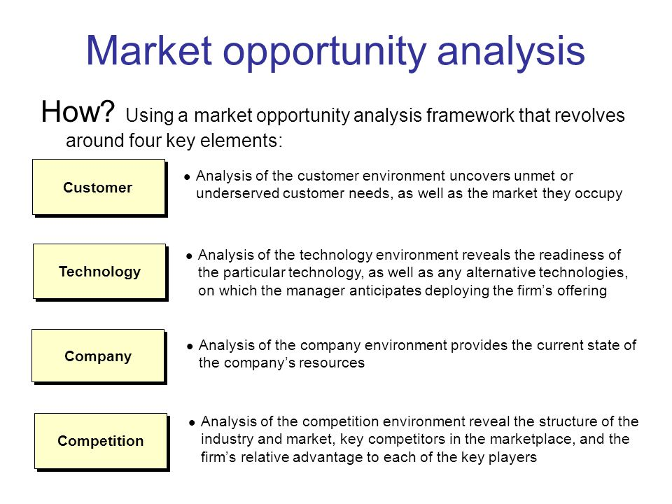 Market Opportunity Analysis Where Will The Business Compete Ppt