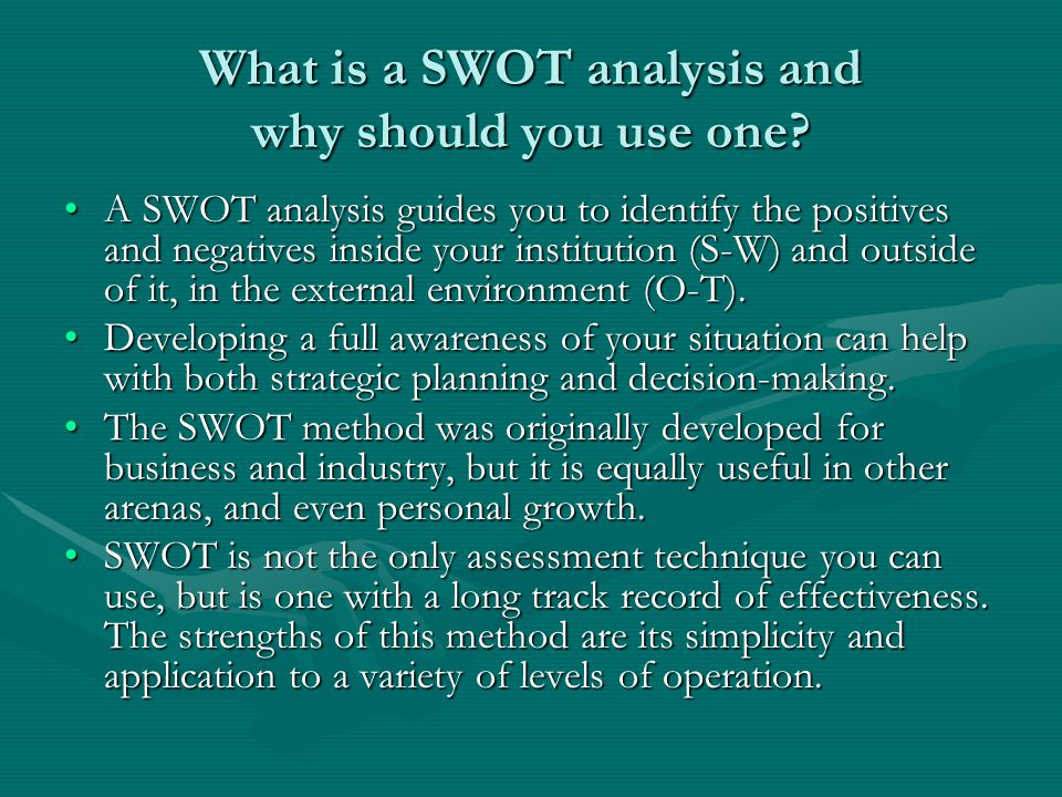 What is a SWOT analysis and why should you use one
