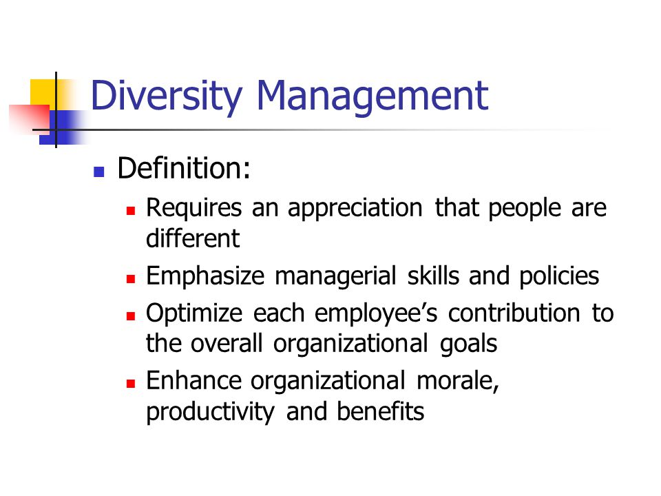 Diversity Management Definition: