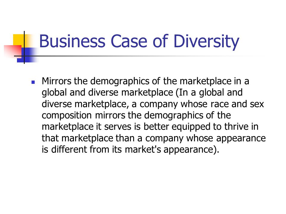 Business Case of Diversity