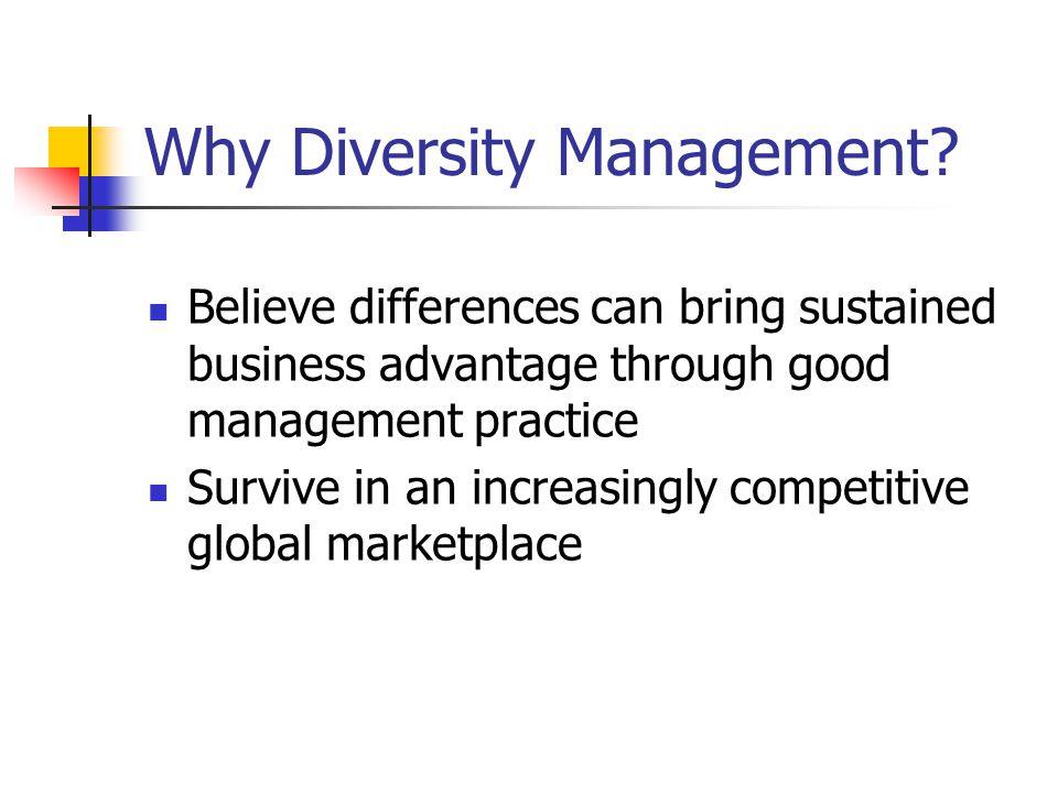 Why Diversity Management