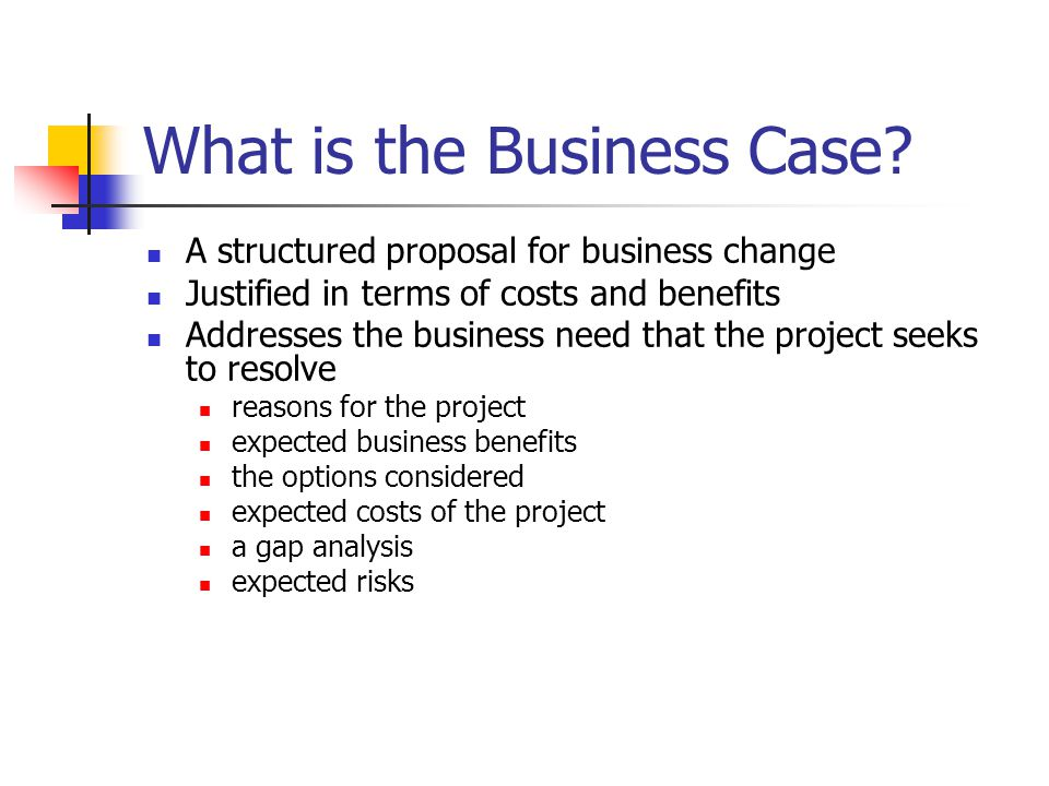 What is the Business Case