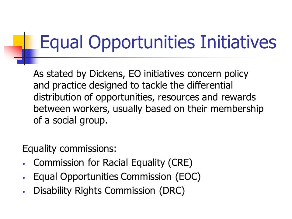 Equal Opportunities Initiatives