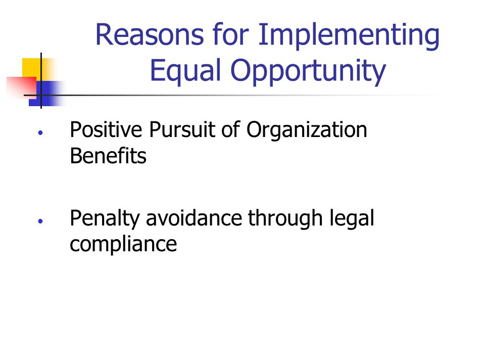 Reasons for Implementing Equal Opportunity