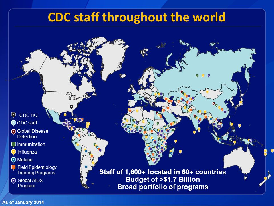 CDC staff throughout the world