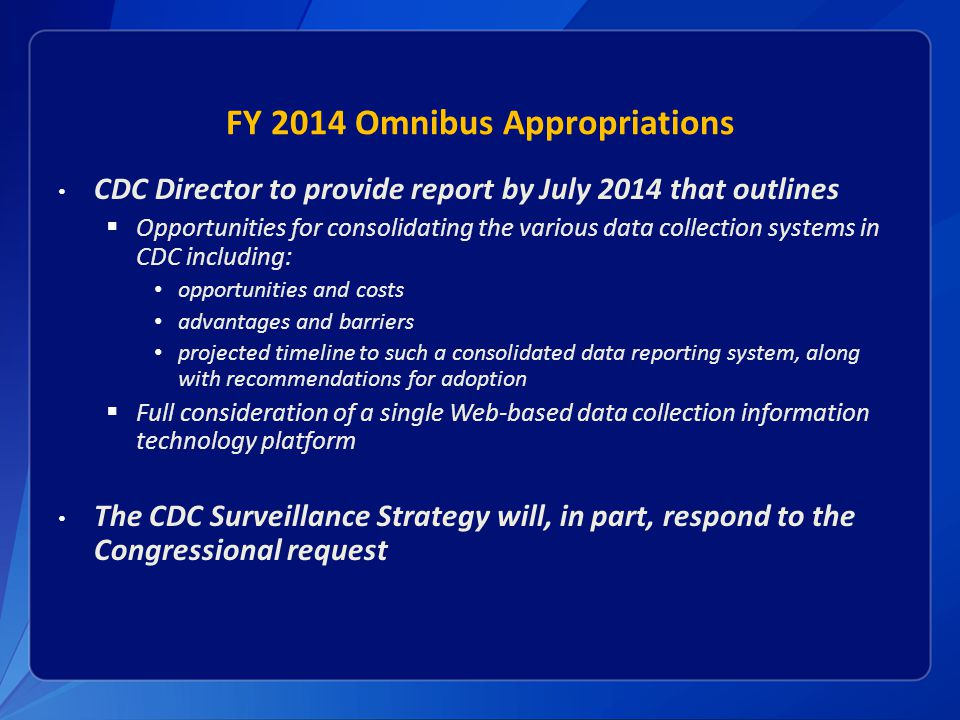 FY 2014 Omnibus Appropriations