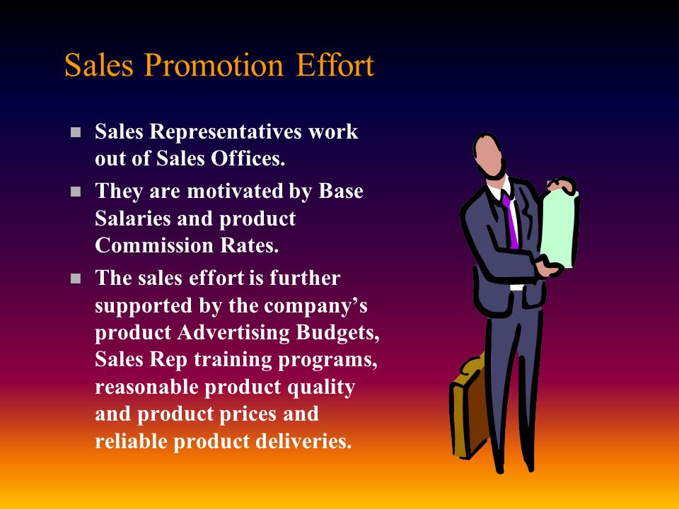 Sales Promotion Effort